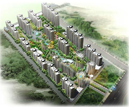 郑州市安泰家园居住区景观设计-企汇网