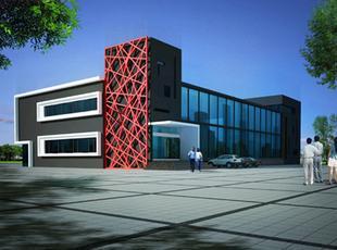 高成快捷酒店门头 郑州餐厅设计 河南ktv装修 郑州和盛装饰