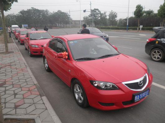 红色马3婚车