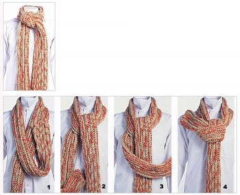 男士围巾的系法图解 简单易学的2011最新男士围巾系