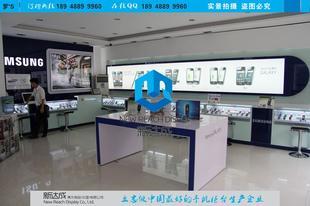 三星新款体验台,手机灯箱,智能手机体验柜,手机展示柜台厂家