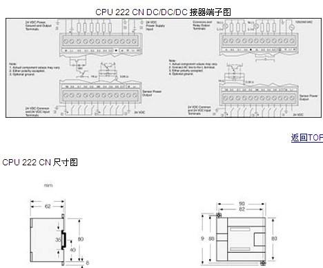 西门子cpu222接线图
