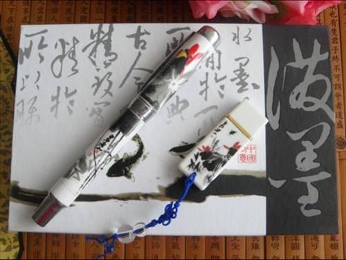 泼墨陶瓷签字笔 签字